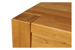 Country Oak 120cm X 80cm Tall Chunky Breakfast Bar Table