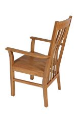 Chelsea Solid Oak Timber Seat Carver Dining Chair