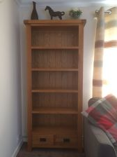 Customer photo 1 - Country Oak Tall Bookcase with Drawers