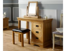 Farmhouse Country Oak Dressing Table Mirror for Bedrooms