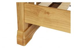 Farmhouse Country Oak Slatted 5 Foot Kingsize Bed