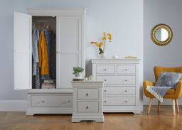 Toulouse grey painted bedside table bedroom furniture set