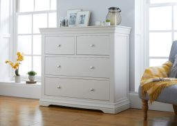 Toulouse Grey Painted Large Grande 2 Over 2 Chest of Drawers