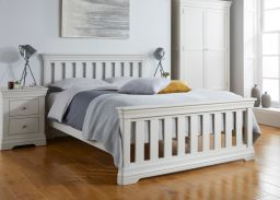 Toulouse Grey Painted 5 foot Slatted King Size Bed