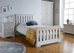 Toulouse Grey Painted 3 Foot Slatted Single Childrens Bed