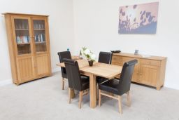 Flip Top Lichfield Oak Dining Table 80cm extending to 160cm