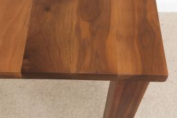 Hanoi 80cm x 80cm Tall Dark American Walnut Breakfast Bar Table