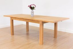 Lichfield 1.6m to 2.0m to 2.4m Double Extending Oak Dining Table