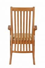 Lichfield Cream Leather Carver Oak Dining Chair