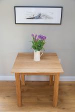 Minsk 80cm Table & 2 Emperor Brown Leather Chairs
