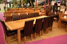 Tallinn 2.4m - 2.9m Butterfly Extending Large Oak Dining Table