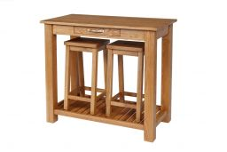 Tutbury Oak Breakfast Console Table