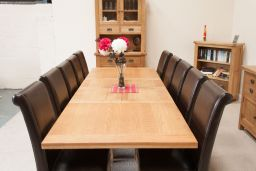Country Oak Double Extending Dining Table Standard Leg 280cm