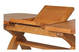 130cm to 180cm Country Oak X Leg Butterfly Extending Table Oval Ended