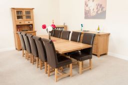 Country Oak 2.8m X Leg Double Extending Table Square Ends