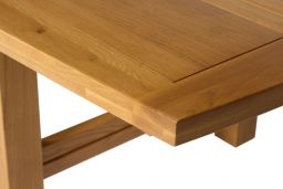 Chateaux 340cm Large Solid Oak Extending Dining Table