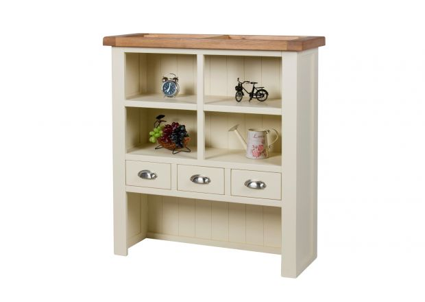 Country Cottage Cream Painted Hutch Unit for combining with sideboard - SUMMER SALE
