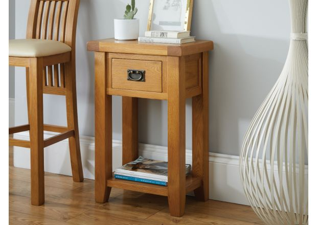 Country Oak Telephone Table - SUMMER SALE