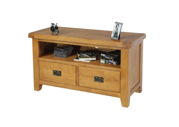 Country Oak 2 Drawer TV Unit - SUMMER SALE