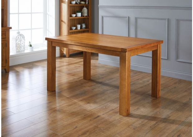 Country Oak 140cm 6 Seater Dining Table - SUMMER SALE