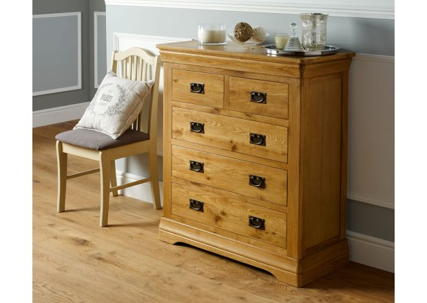 Farmhouse Country Oak 2 Over 3 Chest of Drawers - SUMMER SALE