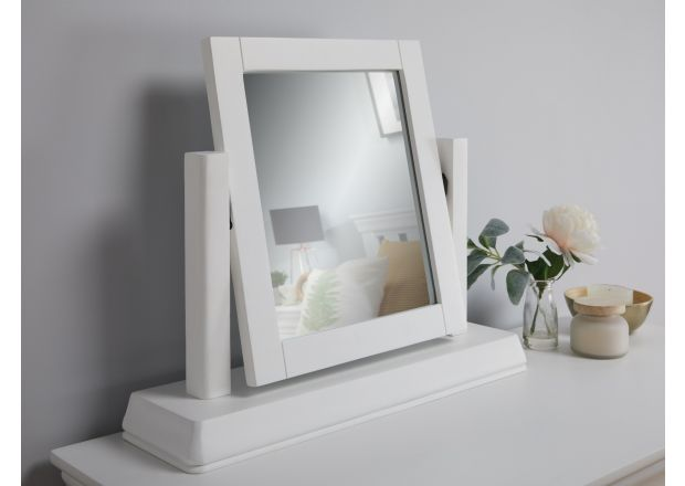 Toulouse White Painted Dressing Table Mirror - SUMMER SALE