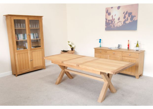 Provence 2.3m Extending EU Made X Leg Oak Table - PRICE CRUNCHED
