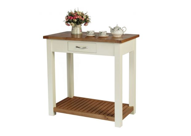 Tutbury Cream Painted Oak Breakfast Bar Table