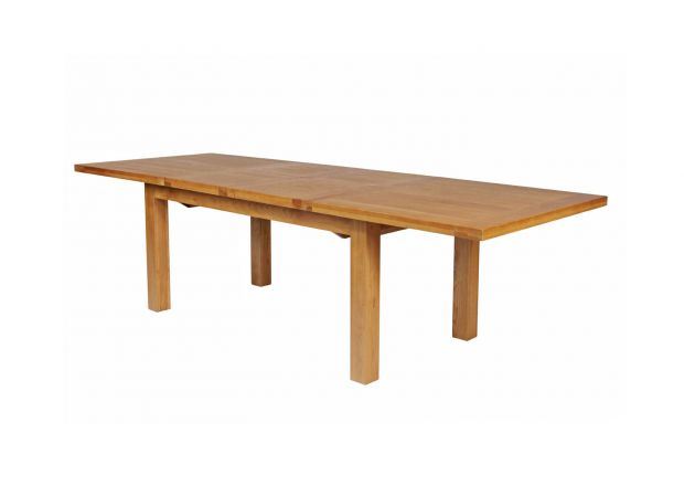 Country Oak 2.8m Large Double Extending Dining Table Standard Leg