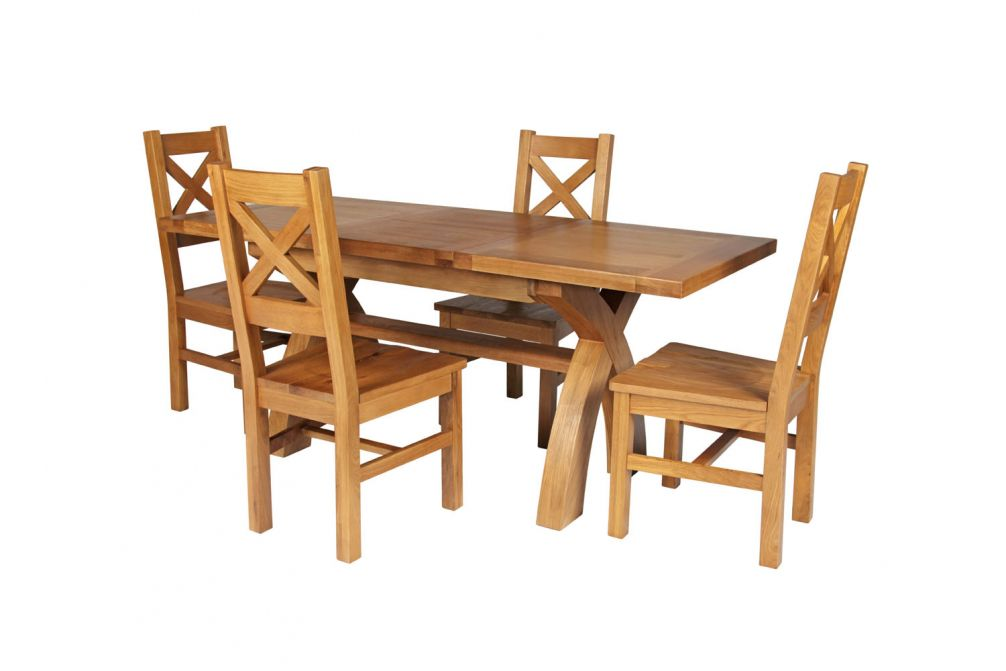 99a0b85f9a Previous. Country Oak 180cm Extending Cross Leg Square Table & 4 Windermere  Timber Seat Ch