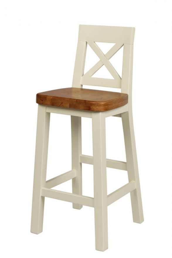 Cream Painted Tall Bar Stool Billy Free Delivery Top Furniture