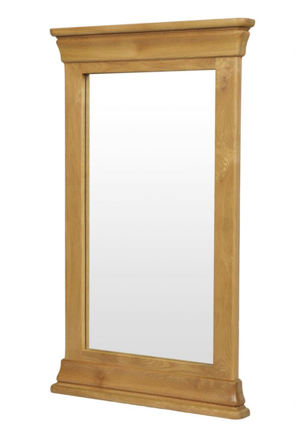 Farmhouse 100cm 60cm Solid Oak Mirror