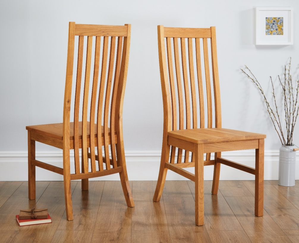 Lichfield Solid Oak Dining Chair with Timber Seat from Top ...
