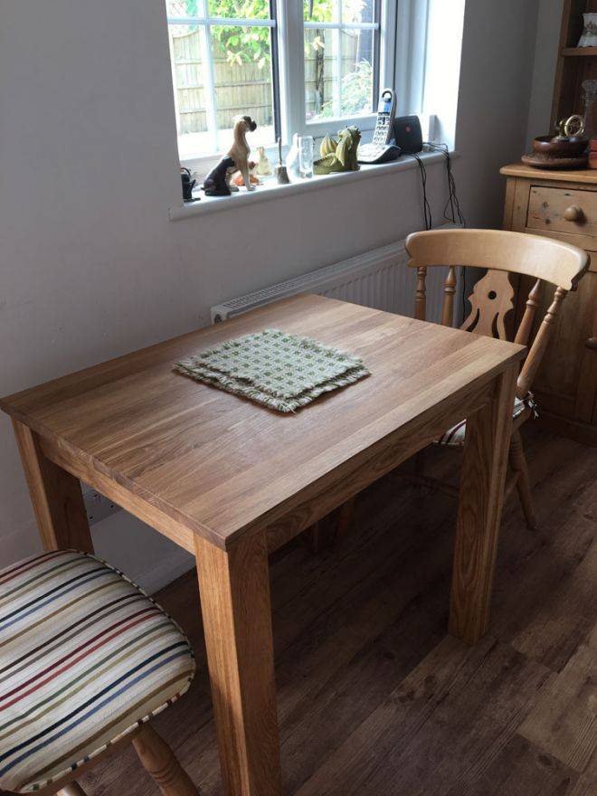 Small Solid Oak Dining Table | Cheap 2 Seater Kitchen Table