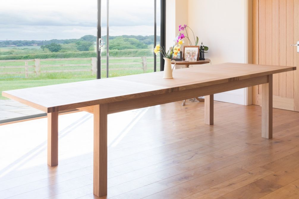 Large 12 14 Seater Oak Extending Dining Table | Tallinn ...