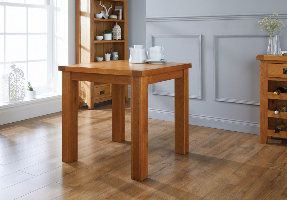 Country Oak 80cm Small Square Oak Dining Table   SPRING SALE