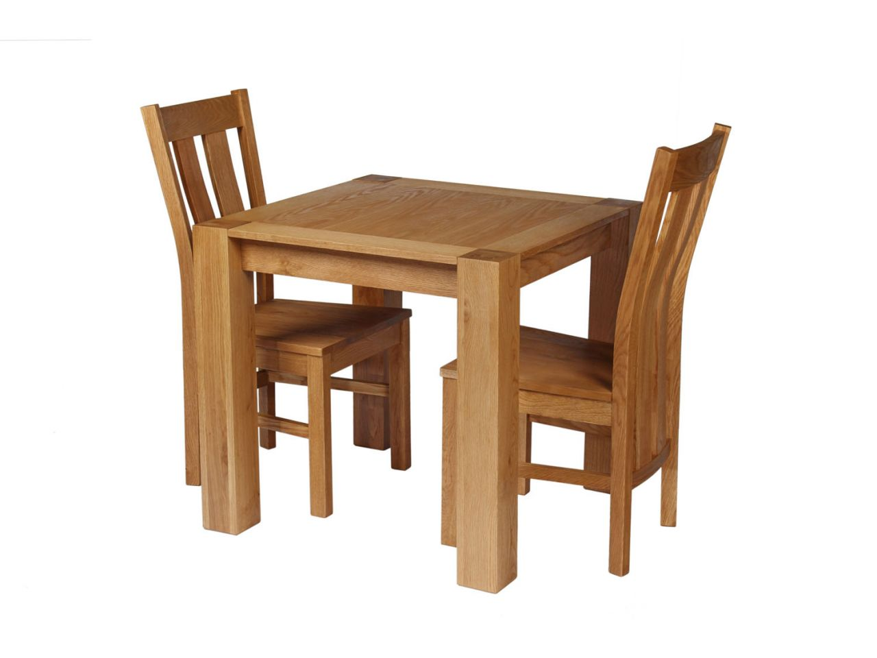 Small 2 Seater Table: Cambridge Small 2 Seater Oak Table & Chair Set