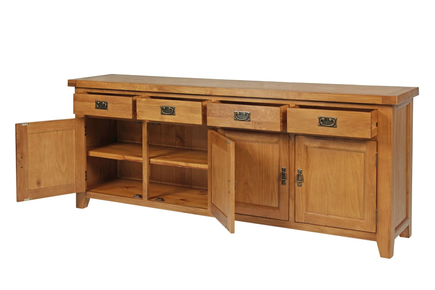 Large Country Oak Sideboard 200cm Free Delivery Top Furniture