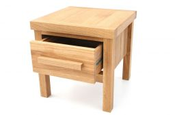 40cm x 40cm x 40cm Baltic Small Solid Oak Lamp Table With Drawer