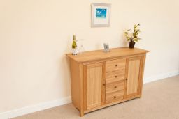 Baltic 135cm Medium Sized Oak Sideboard