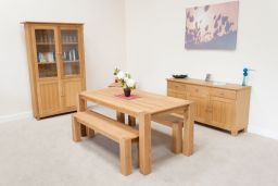 Cambridge 120cm Long Oak Bench