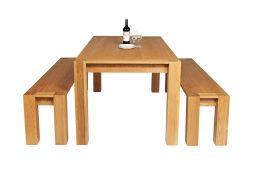 Cambridge 180cm Oak Table Pair 180cm Cambridge Benches