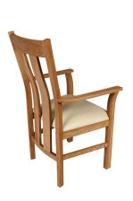 Churchill Cream Leather Oak Carver Dining Chair