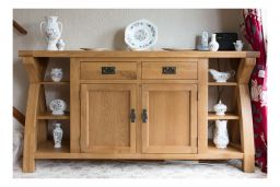 Country Oak 160cm Cross Leg Oak Sideboard