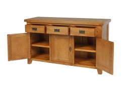 Country Oak 3 Door Farmhouse Medium Oak Sideboard