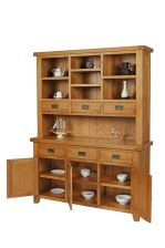 Country Oak Large Dresser Unit Buffet & Hutch