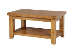 Country Oak Coffee Table with Shelf