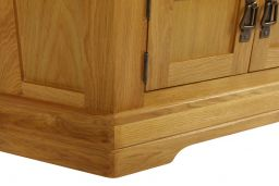 Farmhouse Corner Oak TV Unit