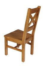 Windermere Cross Back Oak Chair With Timber Seat