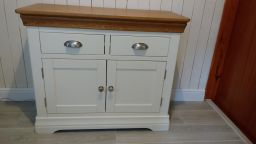 Country Oak Farmhouse 100cm Cream Painted Sideboard